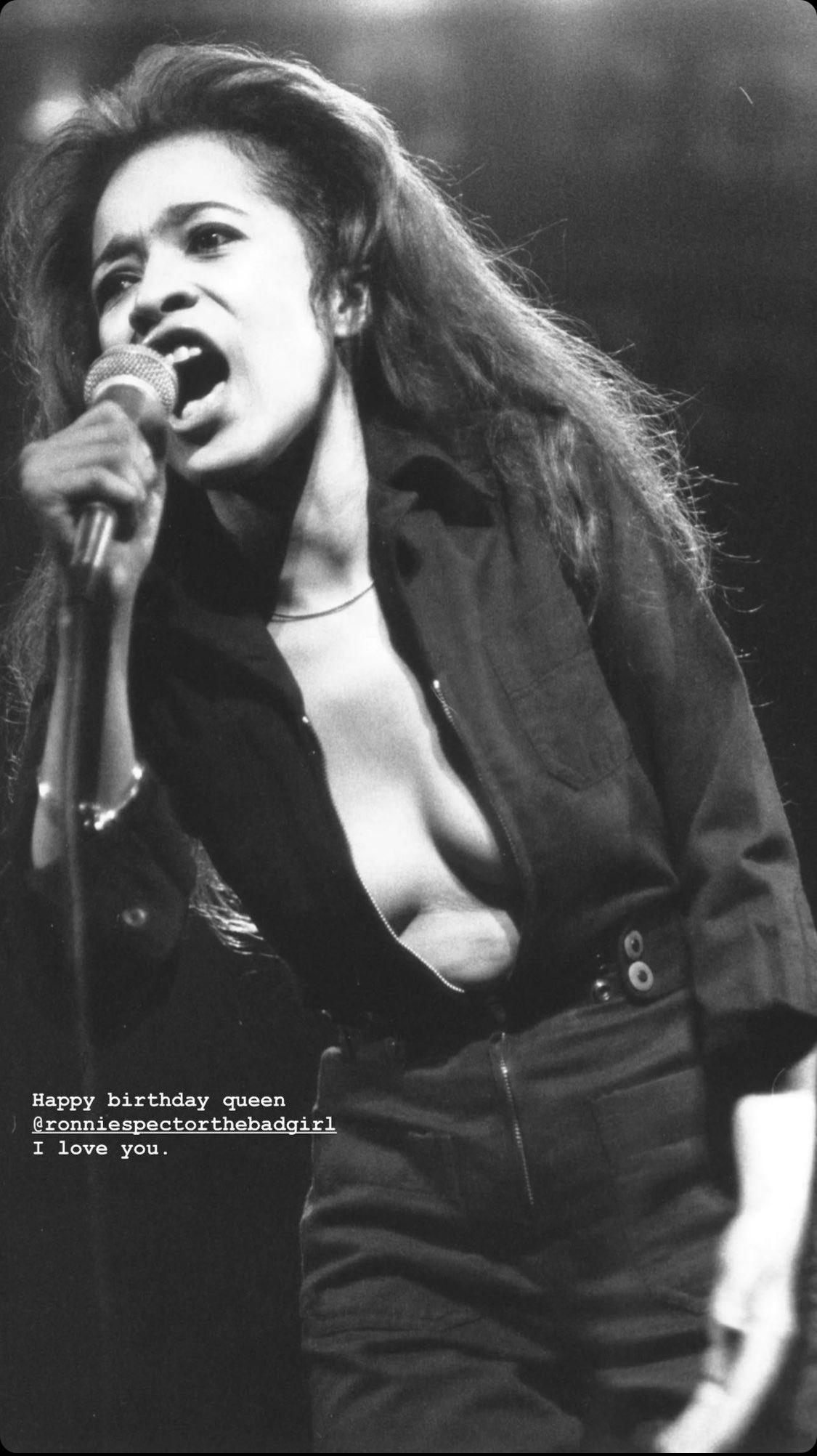 Zendaya wishes Ronnie Spector a Happy Birthday on her Instagram Stories