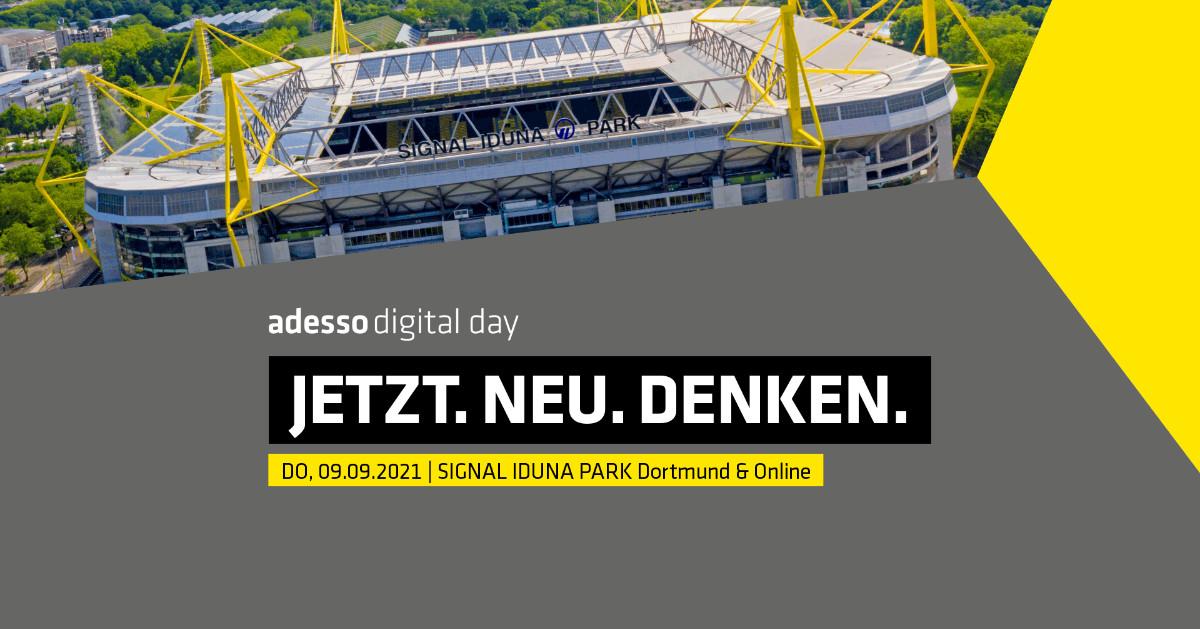 Wir freuen uns auf den 9. September! Der #adesso #digitalday findet in diesem Jahr digital und live im Signal Iduna Park statt – und wir sind natürlich auch wieder mit dabei.  Zur Anmeldung geht es hier entlang: https://t.co/1JgtMCDhiy