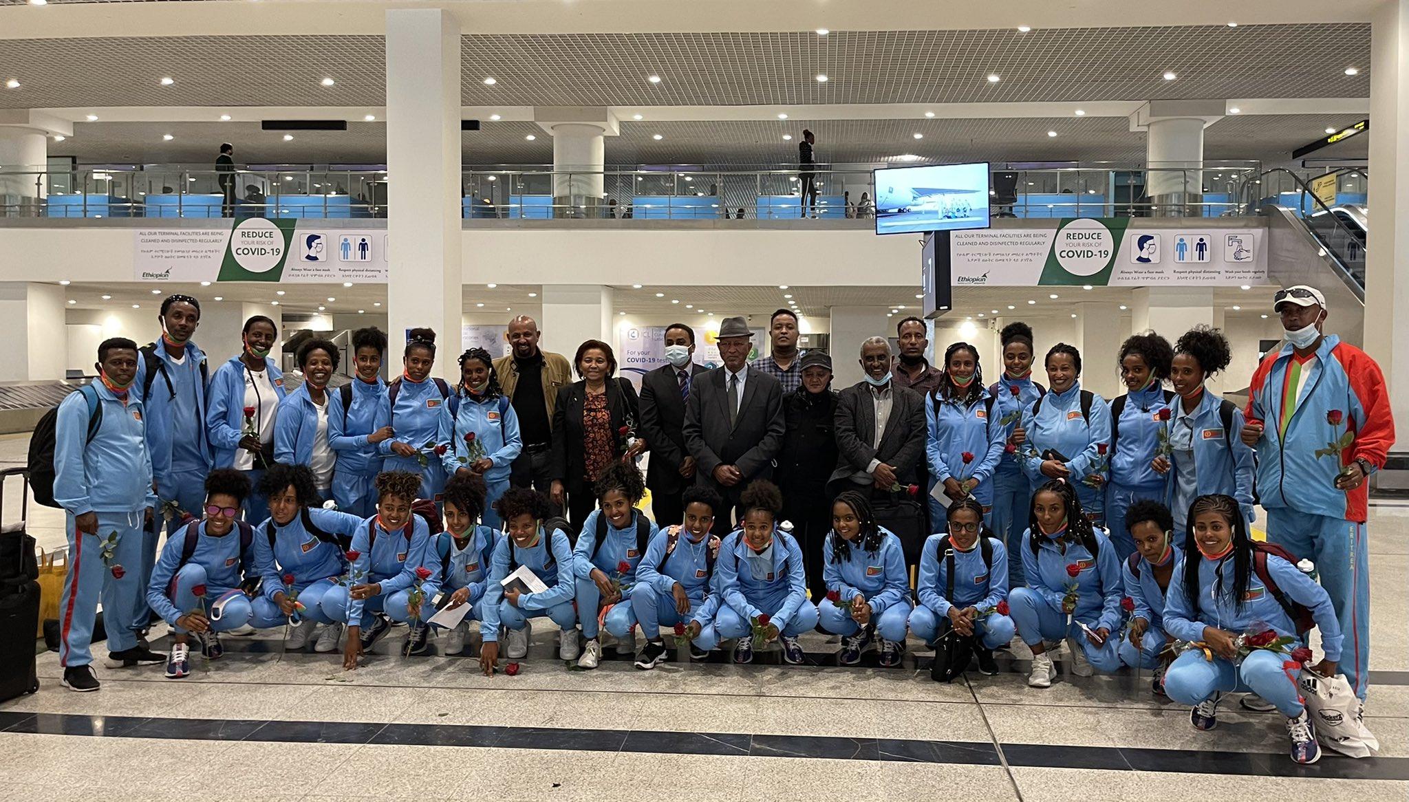 Eritrea's under-20 Women's National <b>Football</b> Team, landed in Addis ...