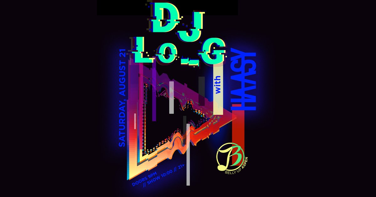 Aspen's own DJ Lo_G returns to Belly Up Saturday, 8/21 with support from Haasy! Tickets: bit.ly/37OpB8F