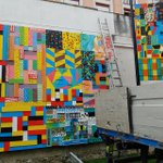 Image for the Tweet beginning: Instalado ya el mural popular