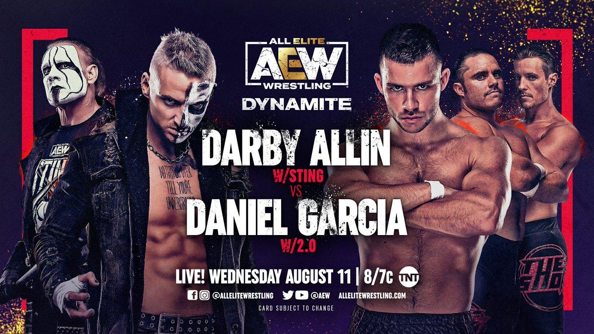 """Wrestling Observer on Twitter: """"#AEWDynamite results: Darby Allin vs. Daniel Garcia https://t.co/7cVmhjedUj… """""""