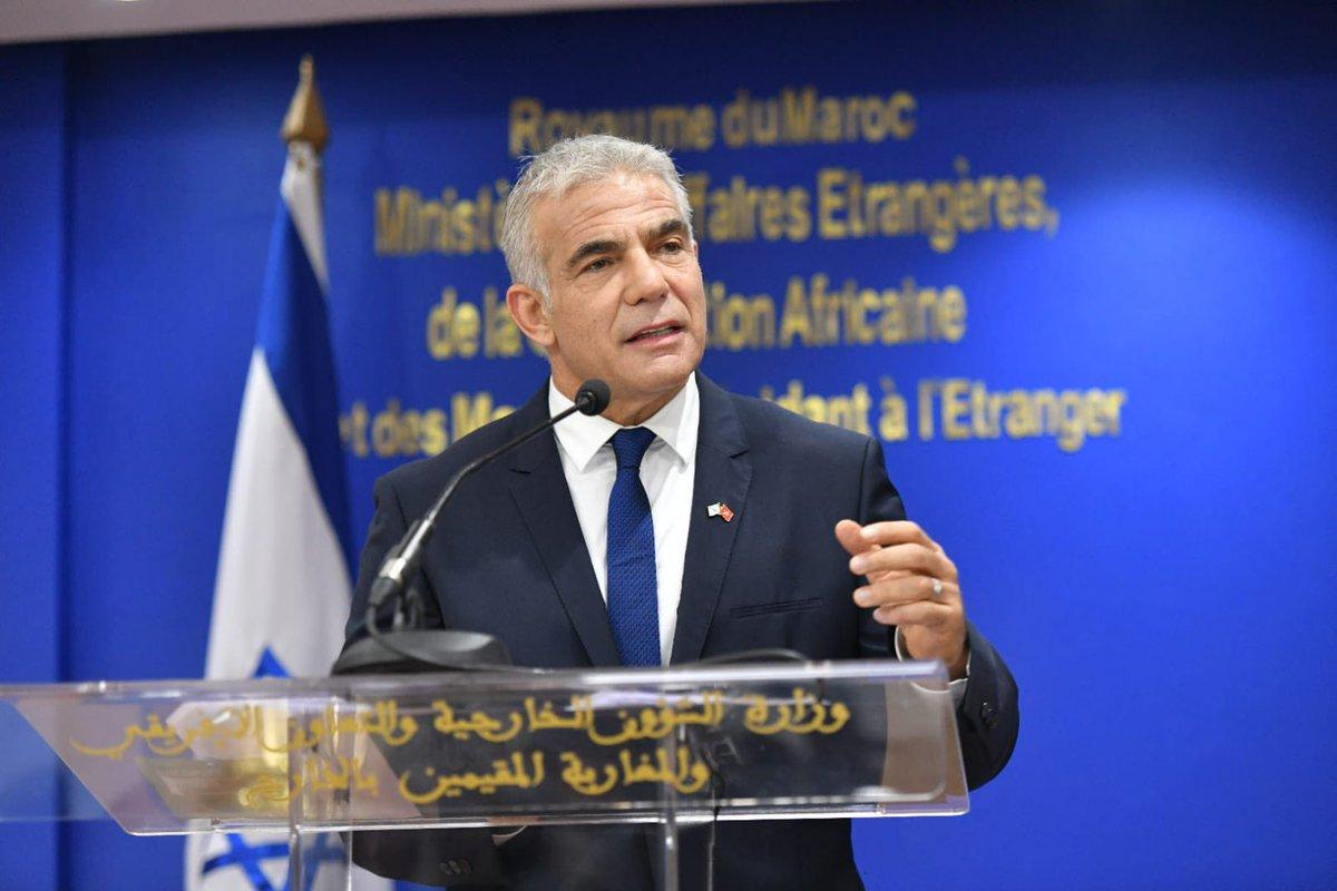 وزير الخارجية لبيد:إن الحرب الوحيدة التي يجدر بنا تكريس حياتنا لها ليست حربا ضد