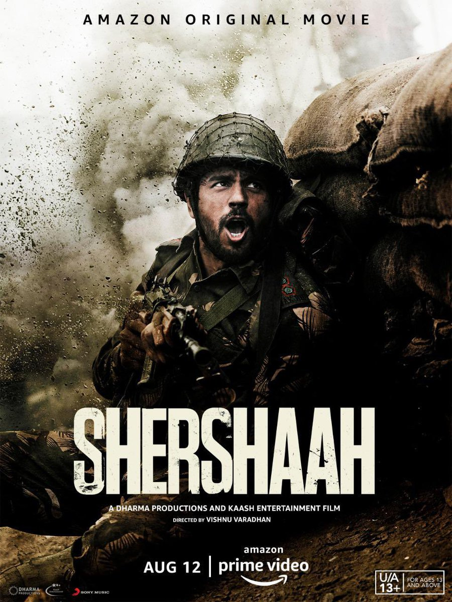 All set to watch the story of one of India's greatest wartime heroes .. a true brave heart. #Shershaah Congratulations to my friends @karanjohar @SidMalhotra #ShabbirBoxwala & the entire team for bringing it to our screens ✊🏽 #Vishnuvardhan @advani_kiara @PrimeVideoIN https://t.co/5fdY6v2fZv
