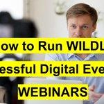 Image for the Tweet beginning: Digital events like webinars are