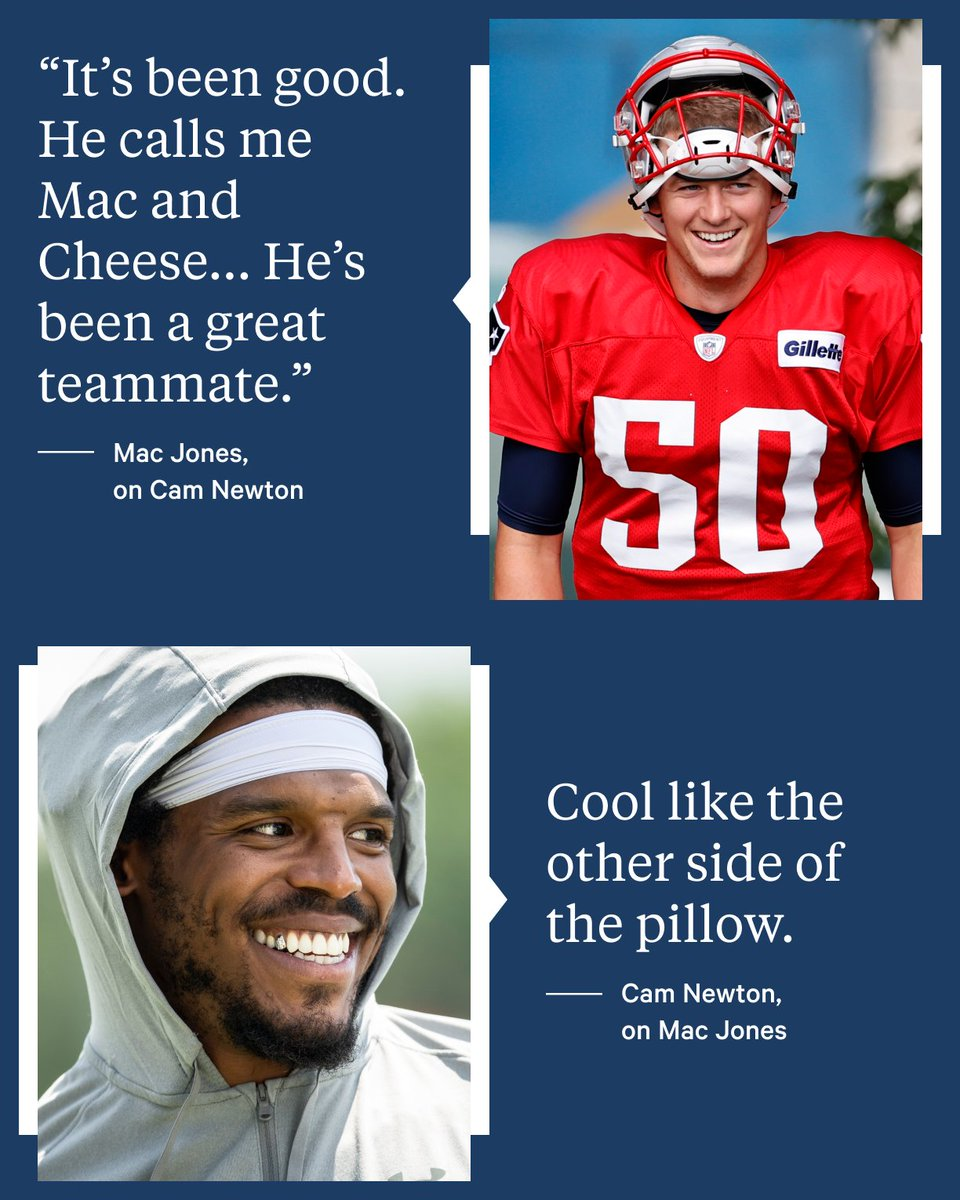 The Athletic On Twitter Sounds Like Cam Newton And Mac Jones Are Getting Along Nicely Cameronnewton X Macjones 10