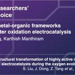 Image for the Tweet beginning: .@manthiramlab's @chung_minju & @Kmanthiram take