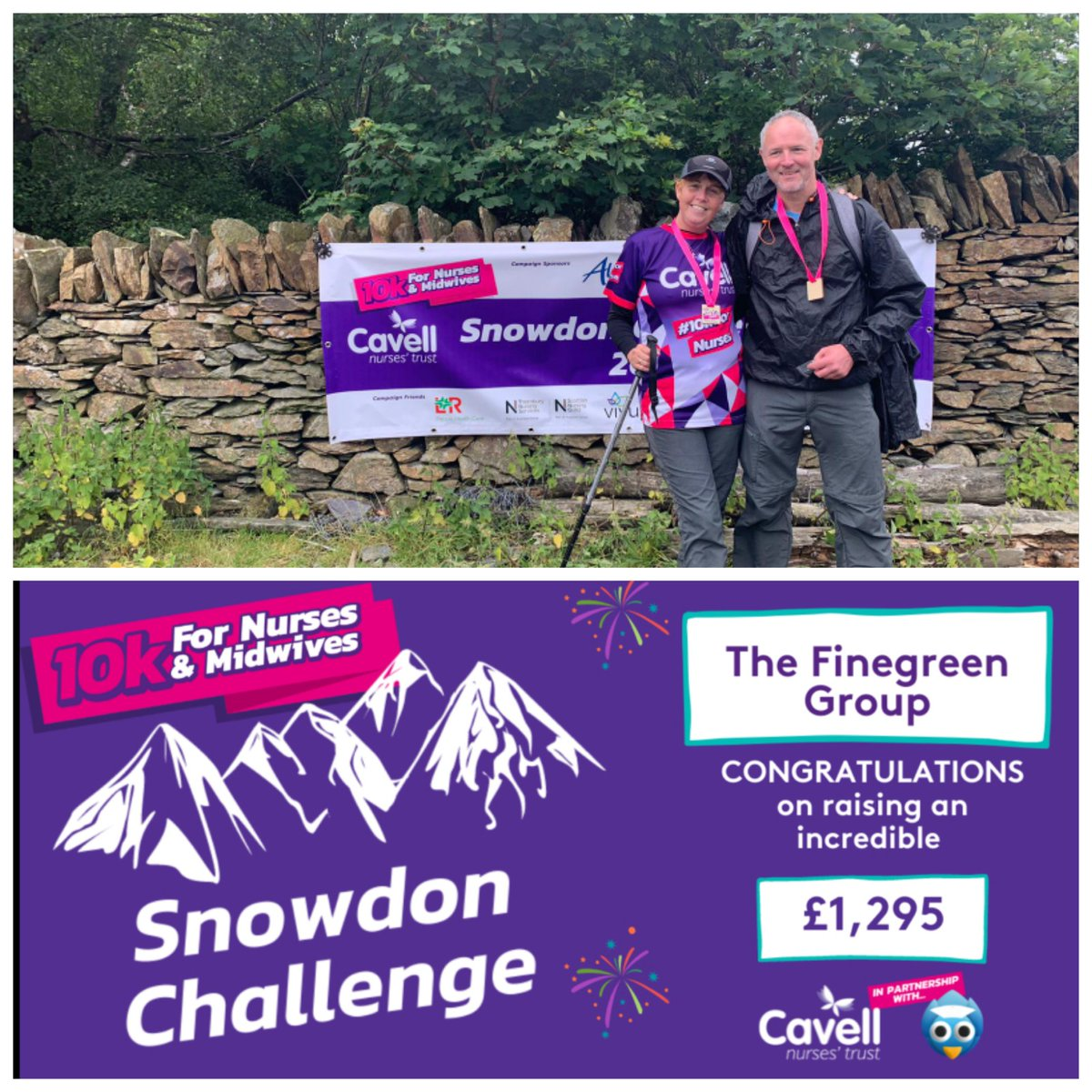 Congratulations to our Finance Controller Beverley Finan who has raised £1,295 for the @CavellTrust  with her recent hike up #Snowdon as part of their 10k for Nurses & Midwives challenge. Great job Bev!  #CavellNursesTrust #fundraising #charity https://t.co/RzMGZLhMYW