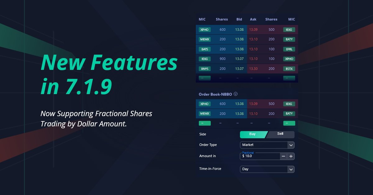 Now supporting fractional shares trading by dollar amount! #Webull #FractionalShares