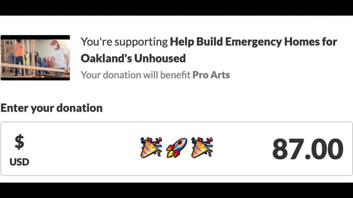 🙌With my 1st @withFND Sale yesterday 10% ($87) went towards building Emergency Tiny Homes in Oakland! ⚡️🏠⚡️  #NFTCommunity #NFT #Giveback #NFTsForGood #Oakland