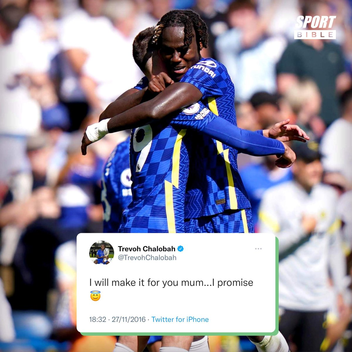 In 2016, Trevoh Chalobah made his late mum a promise that he would 'make it' for her 🥺 Today, he made his Premier League debut, bossed the performance and scored a fantastic goal 🙌 Five years on, he came good on his promise 💙