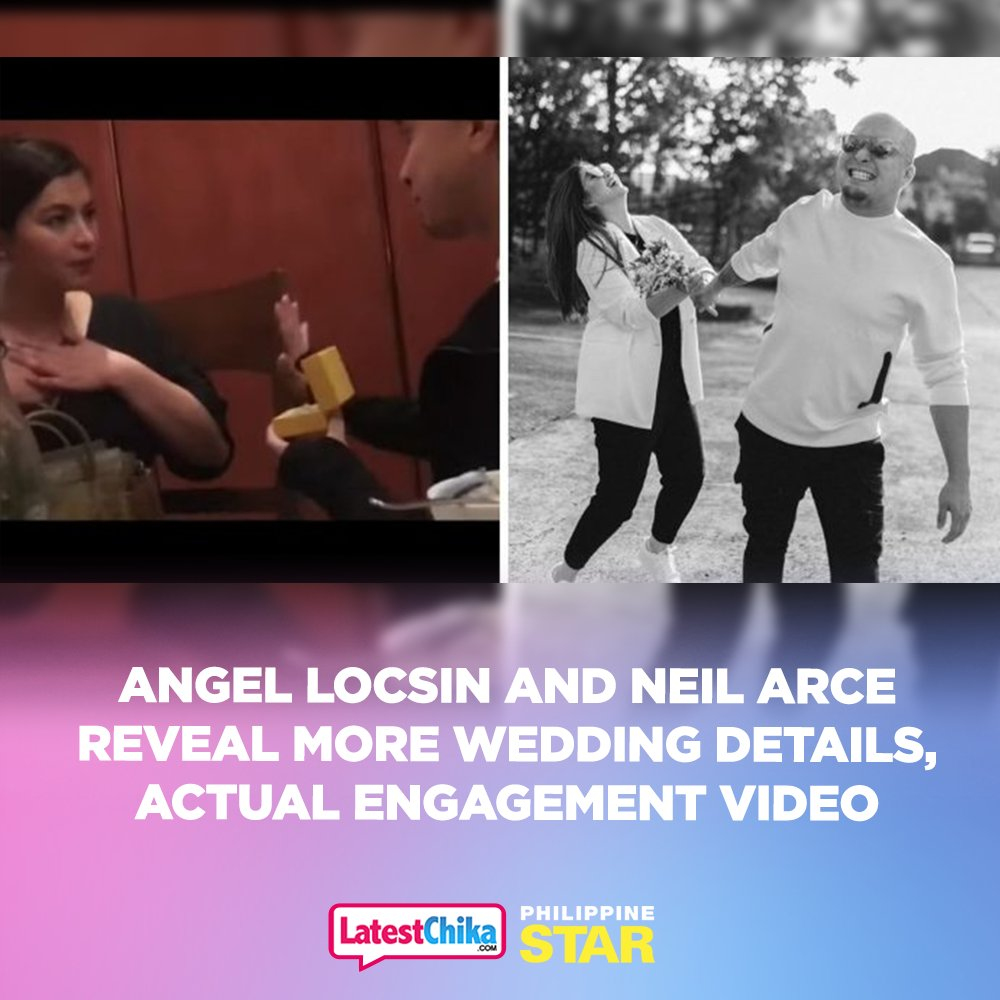 """Angel Locsin and Neil Arce, for the first time, shared never-before-seen scenes from their engagement and their """"simple but rock"""" civil wedding ceremony. https://t.co/BaTbldOoHX 