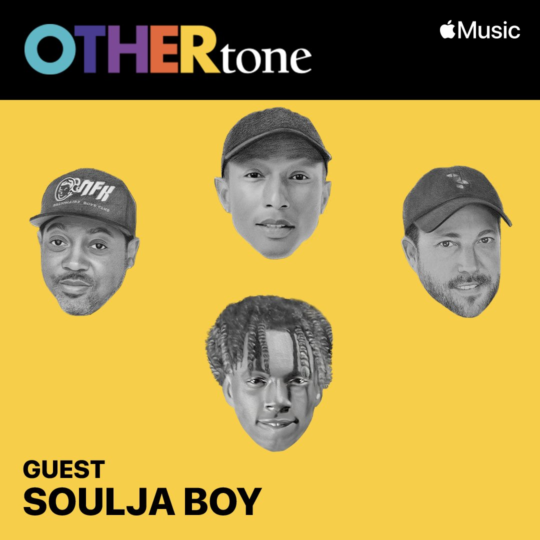 We back for season 2 of @OTHERtone with our first guest @souljaboy. Tune in tomorrow, 8/29 at 3pm PT to catch it live, only on @AppleMusic: https://t.co/xQImSxvzQ1 https://t.co/0MbBemt3h3
