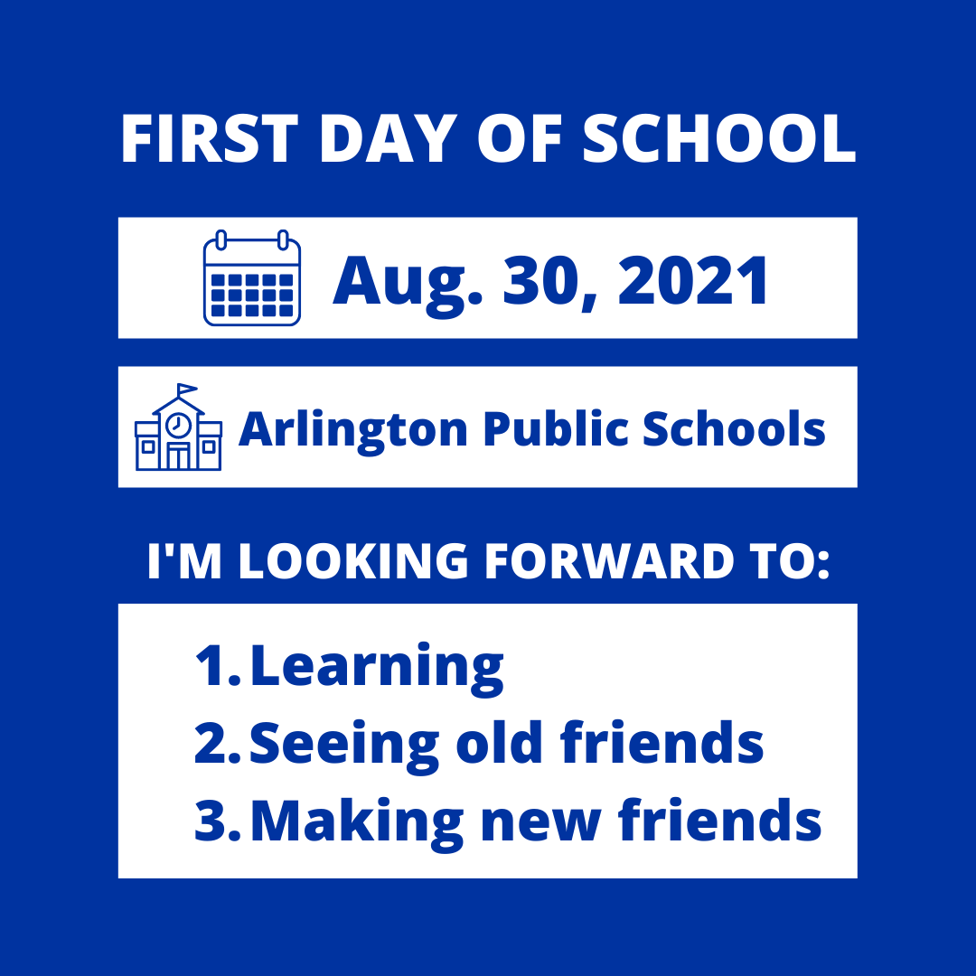 RT <a target='_blank' href='http://twitter.com/APSVirginia'>@APSVirginia</a>: We'll see you on Monday! Share your first day photos using the hashtag <a target='_blank' href='http://search.twitter.com/search?q=APSBack2School'><a target='_blank' href='https://twitter.com/hashtag/APSBack2School?src=hash'>#APSBack2School</a></a> <a target='_blank' href='https://t.co/jJD5X6smXR'>https://t.co/jJD5X6smXR</a>