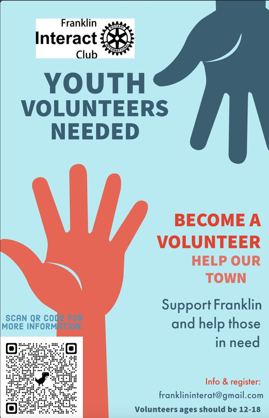 Franklin Interact Club is looking for new members. Could that be you?