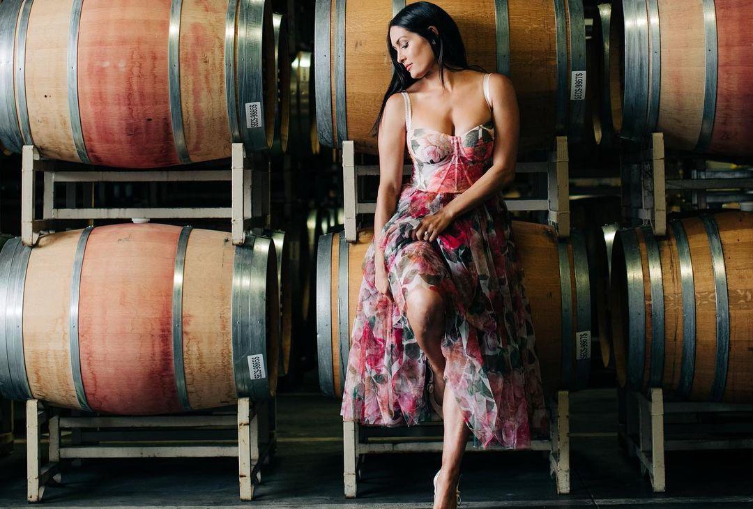 WWE Star Nikki Bella Promotes Wine With Stunning Insta Photos 109