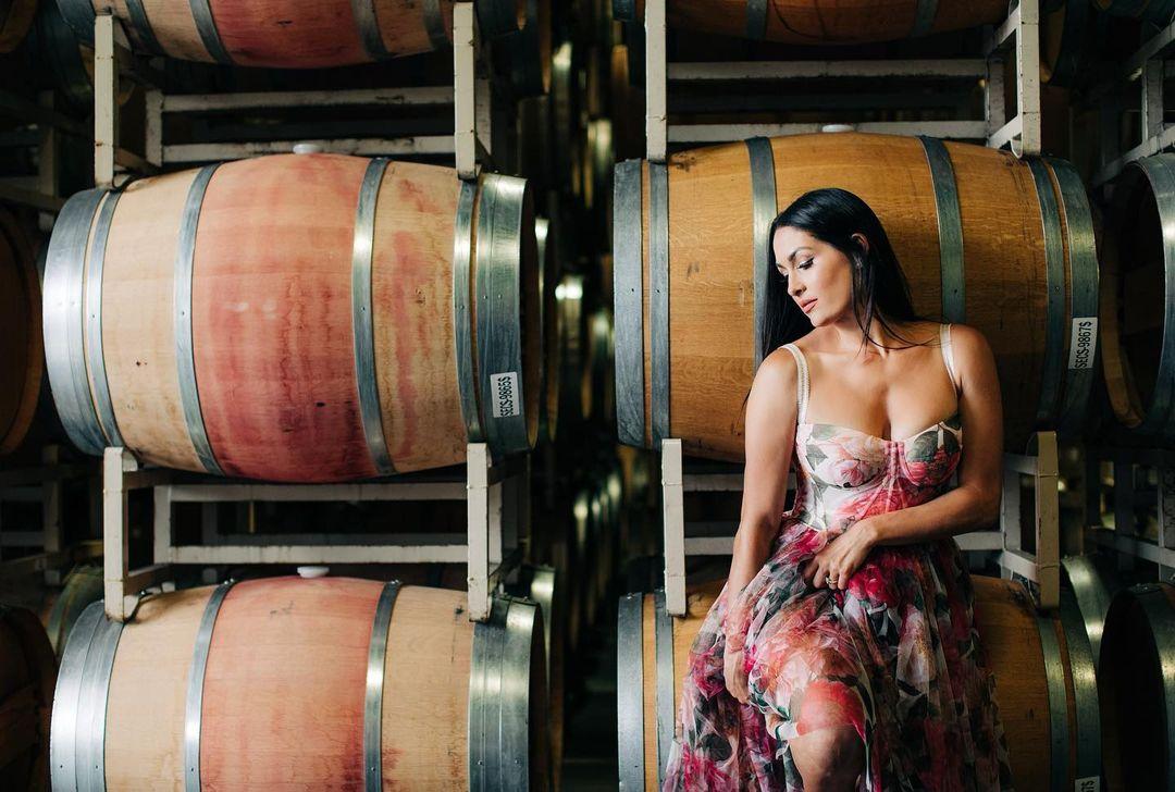 WWE Star Nikki Bella Promotes Wine With Stunning Insta Photos 110