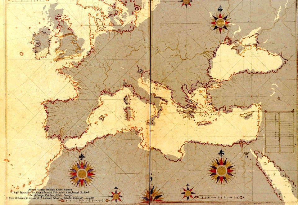 Ottoman map from the 16th century - remarkably close!!