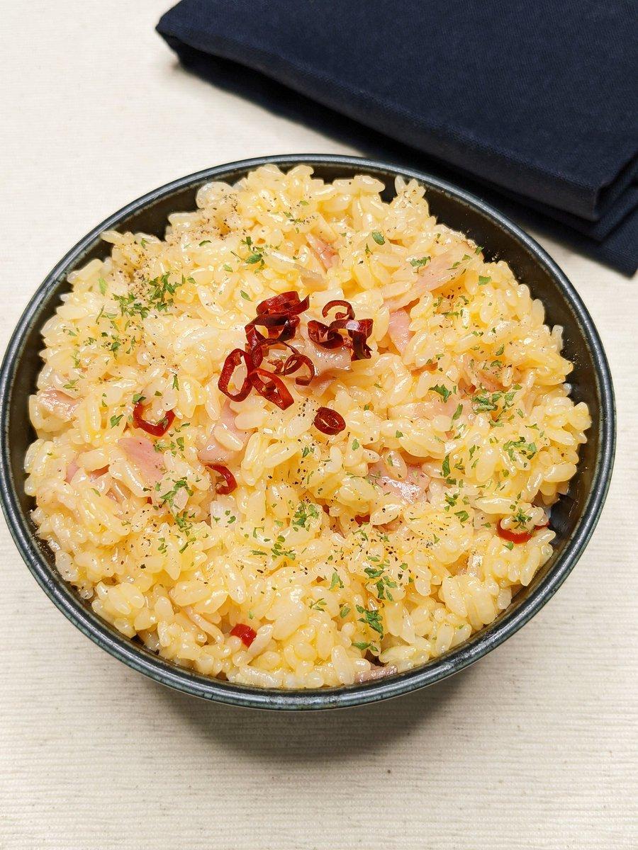 フライパンを使う必要なし!イタリア風卵かけご飯レシピ!