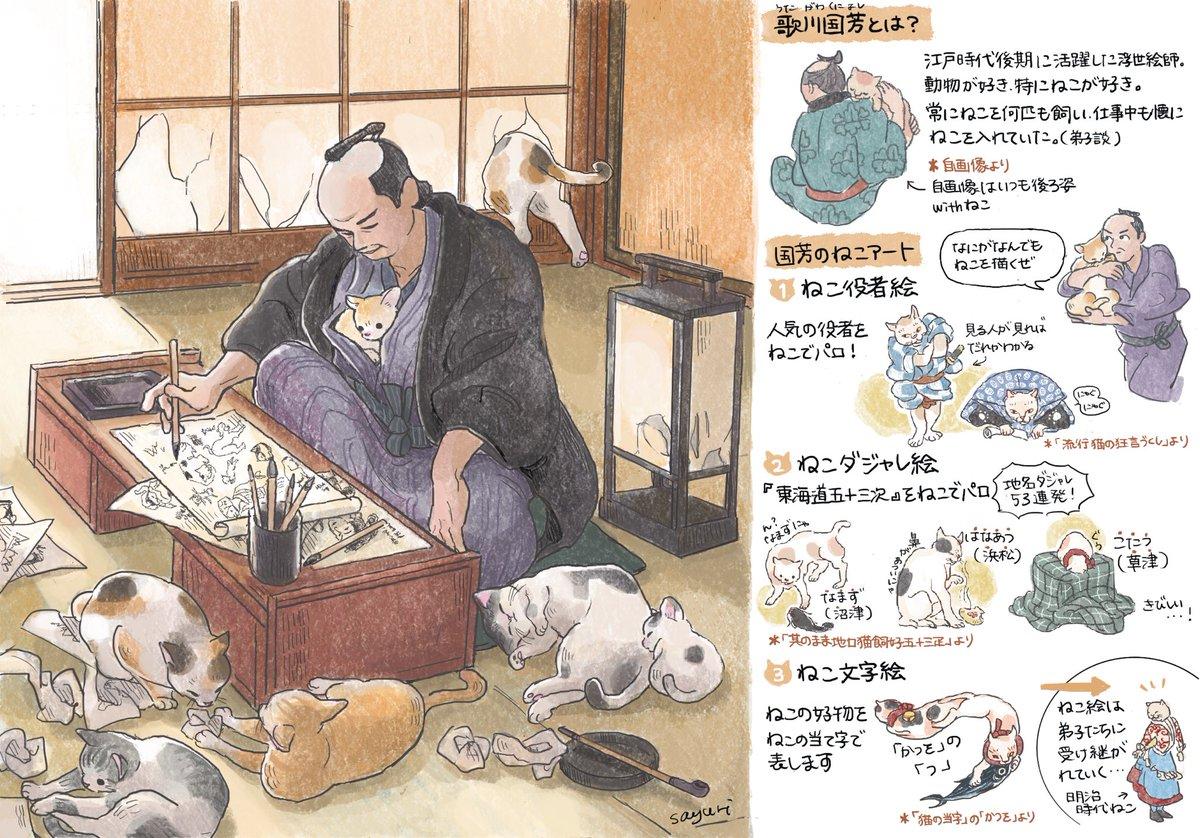 猫好きに時代は関係ない?江戸時代にいた猫好きの浮世絵師!