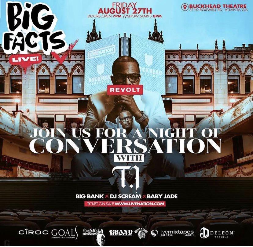 Exclusive Conversation with @BIGFACTSPOD @BigBankDte @BABYJADE1 @DJSCREAM 🔥🔥 AUG 27th LIVE DOORS 7:00PM.GET YOUR TICKETS NOW‼️‼️ @BuckheadTheatre @Jardin_LasVegas 💨💨 @revolttv