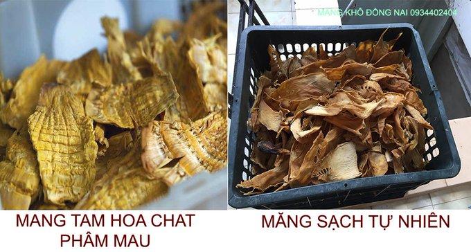Phân biệt măng khô sạch và măng khô tẩm hóa chất - Măng khô Đồng Nai