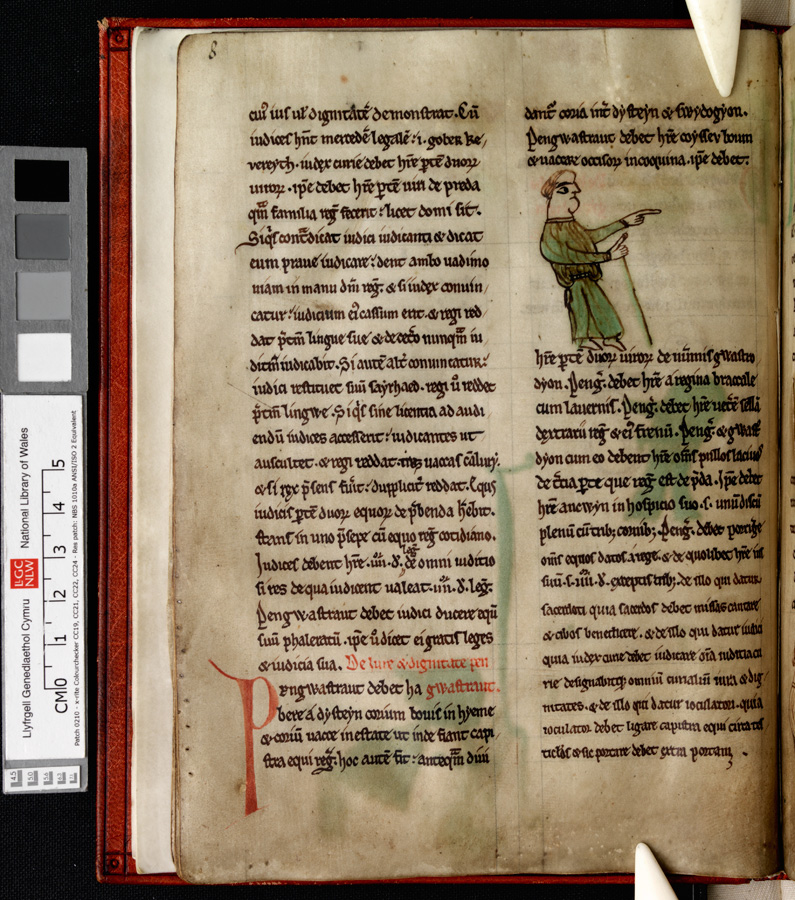 The pengwastrod, chief groom. From the Laws of Hywel Dda, Peniarth 28, National Library. library.wales/discover/digit…