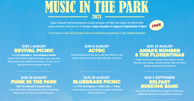 Late summer afternoons in the park with free music? Yes please! 🧺🌞 Join @openhousefest in Ward Park every Sunday in August & September from 3-5pm. Tickets 👉 openhousefestival.com/festival/music… #MyGiantAdventure #OpenHouseFestival