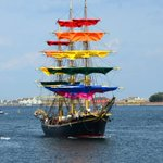 Image for the Tweet beginning: The world's oldest training ship