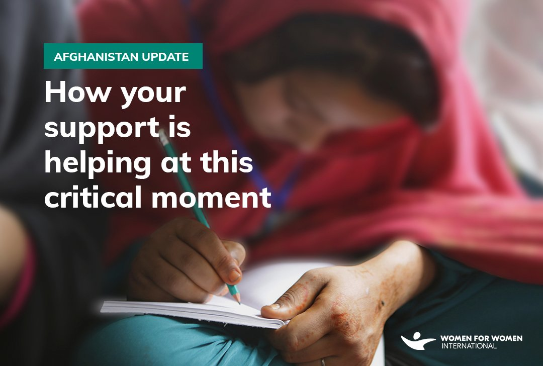 The outpouring of support for women in Afghanistan these past few days has been incredible. We are so grateful for all your help. Some of you have asked us how donations to our organization are being spent. 1/3