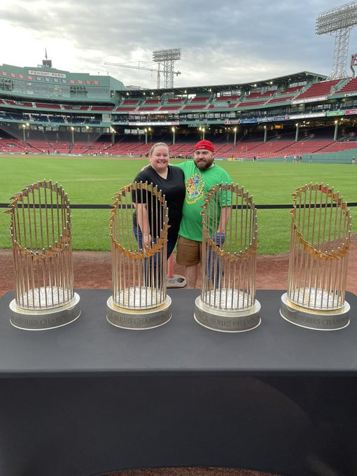 Happy birthday to me! Sox trophies and Harry Potter at Fenway park!