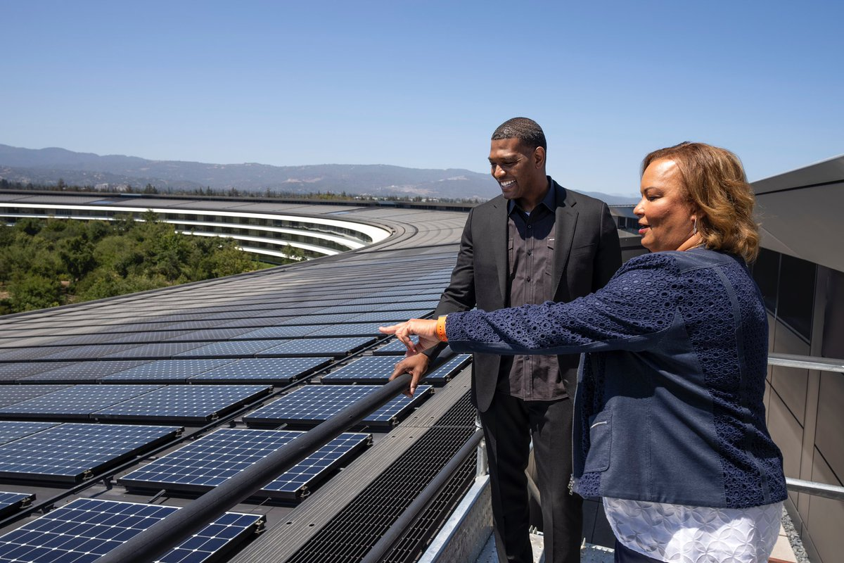 The fight against climate change is a fight for equity, for opportunity, and for our children's future. Thank you @EPAMichaelRegan for visiting Apple Park and talking about how government and businesses can work together to protect the planet! https://t.co/w6OeMa3cbZ