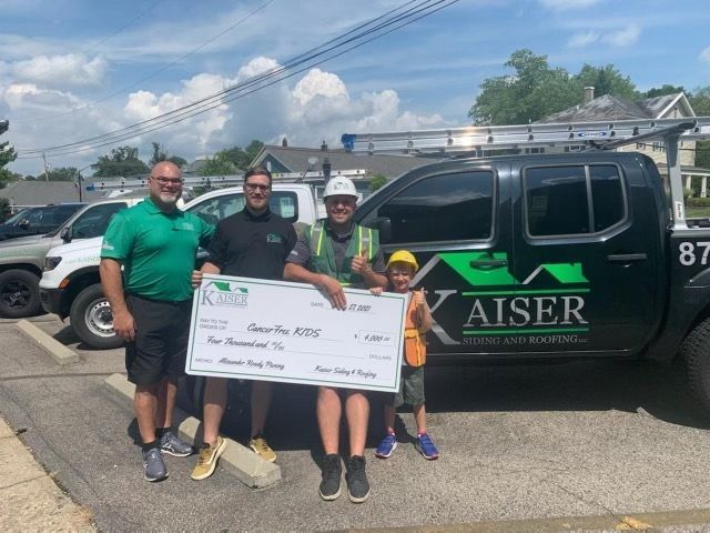 Thank you @KaiserRoof for your generous donation to CancerFree KIDS!