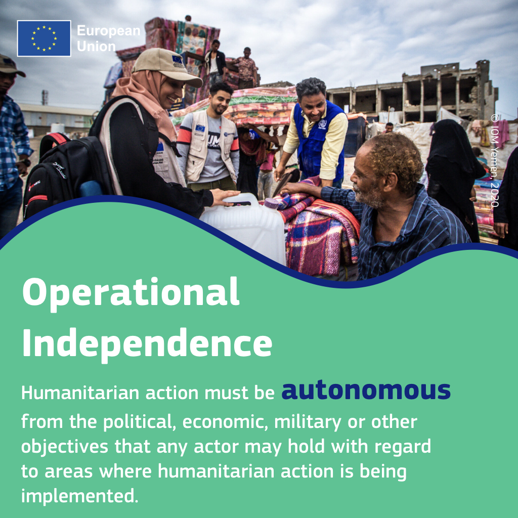 🔹Humanity 🔹Neutrality 🔹Impartiality 🔹Independence These are the 4 principles guiding @eu_echo's humanitarian work. Do you know what they mean? check out the images 👇 to learn more!