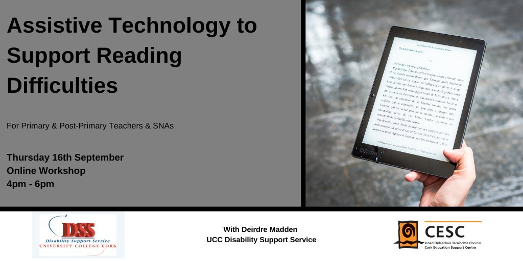 Assistive Technology to Support Reading Difficulties - Online Workshop