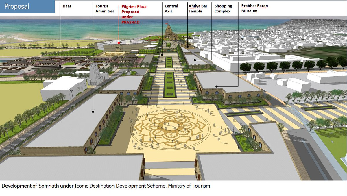 Rs. 111 crore Iconic Destination Development Projects proposed for Somnath