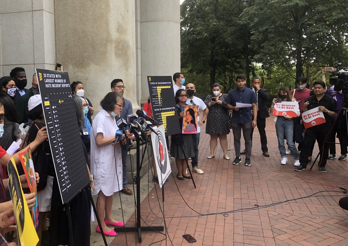 Thank you @AAFederation for hosting today's press conference and @SenSchumer and @LiuNewYork for speaking out against Anti-Asian racism, including the horrific assault on Minerva Chin. We must fight racism and xenophobia at its roots to prevent future hate crimes.