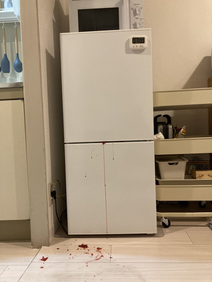 事件現場?作り過ぎたブルーベリージャムを冷蔵庫に運んだ結果!