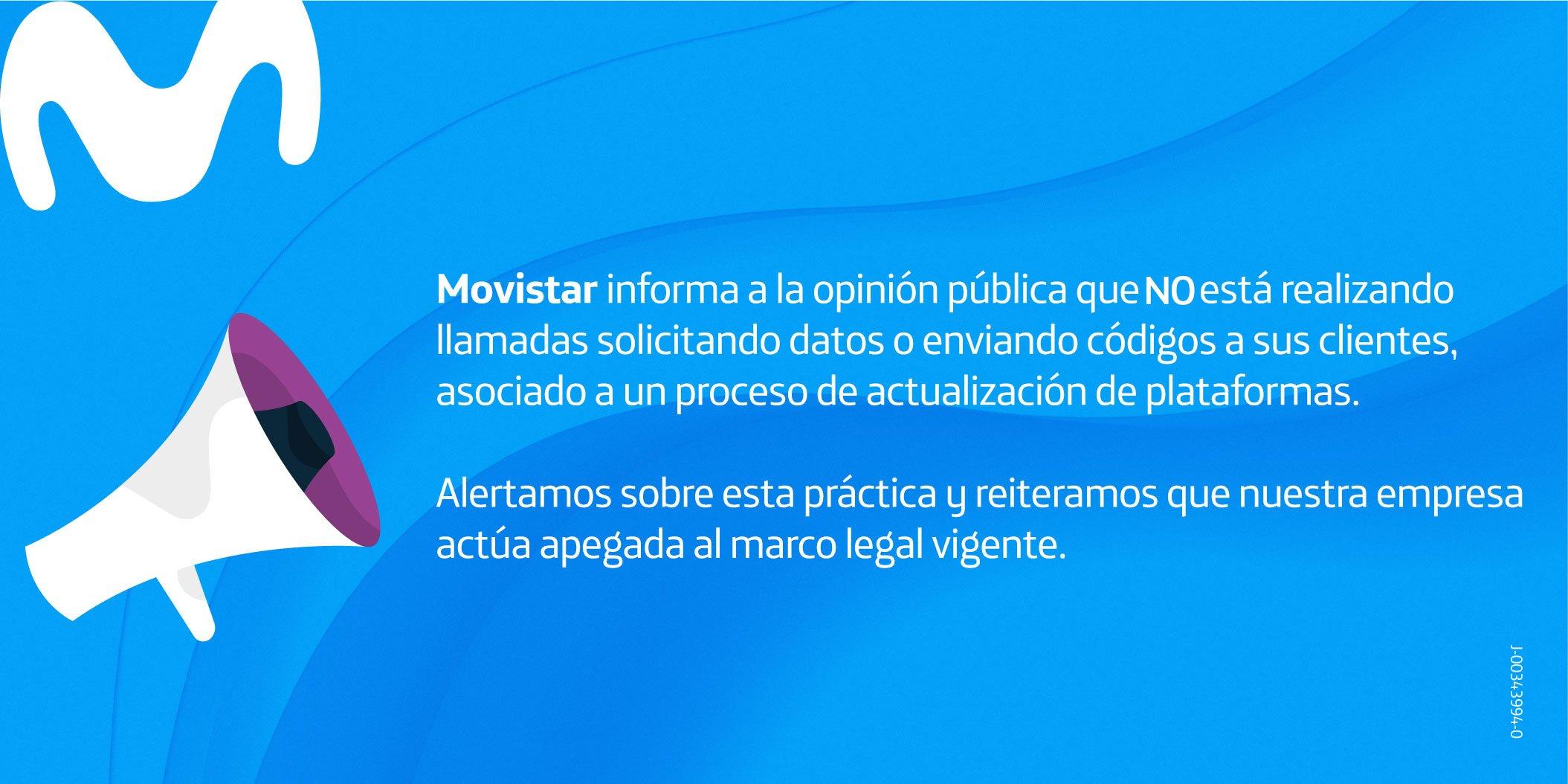 Movistar alerta sobre llamadas fraudulentas a sus clientes