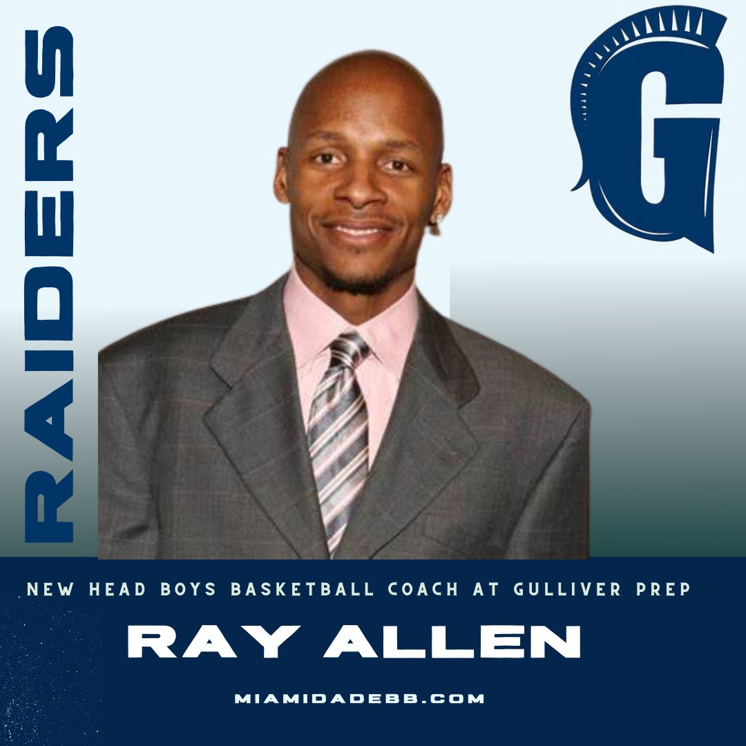 NBA Legend Ray Allen Named Head Basketball Coach at Gulliver Prep in Florida
