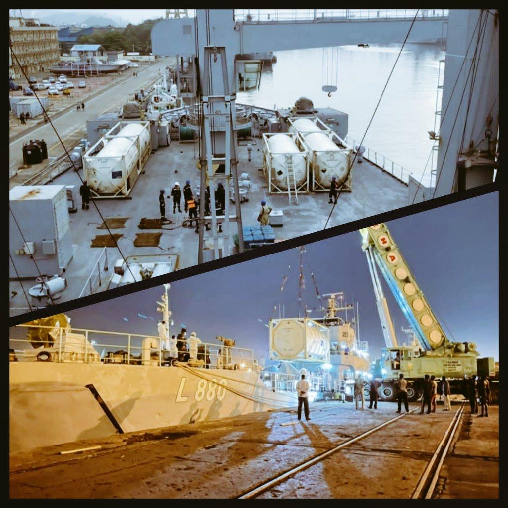 India deployed INS Shakti for the urgent delivery of Medical Oxygen to Sri Lanka.