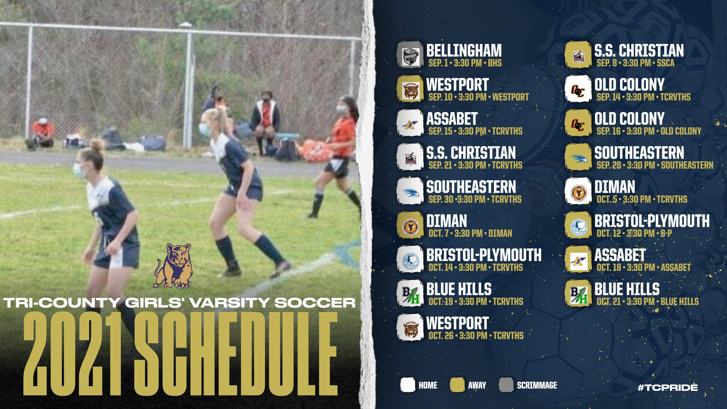 Tri-County RVTHS Athletics: varsity schedules for Fall 2021