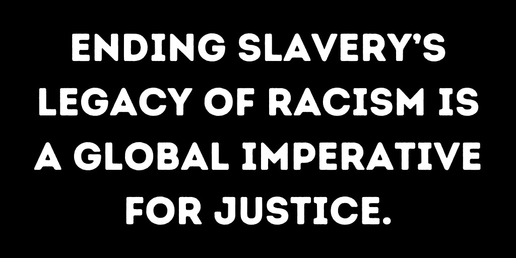 The transatlantic slave trade ended more than 200 years ago.   Sadly, we continue to live in its shadows of racial injustice.  We urgently need to #FightRacism, dismantle racist structures and reform racist institutions. https://bit.ly/3j6pRDi