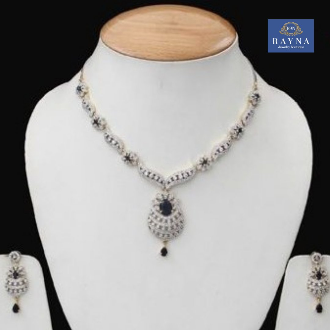 Sleek and elegant  Cubic Zirconia Pendant jewelry set is the accessory you've been looking for! Shop this style now. #cubiczirocnia #partywear #czjewelry #bridaljewelry #weddingjewelry #specialoccasion #jewelry #giftforher #shopsmall #elegant #wedding #jewelryinspo #styleguide