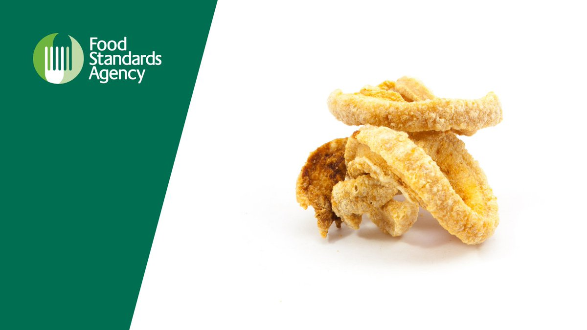 We are issuing advice to consumers not to eat several pork scratching products linked to salmonella poisoning. Full details of the brands affected by the recall and health advice can be found on our website: food.gov.uk/news-alerts/ne…