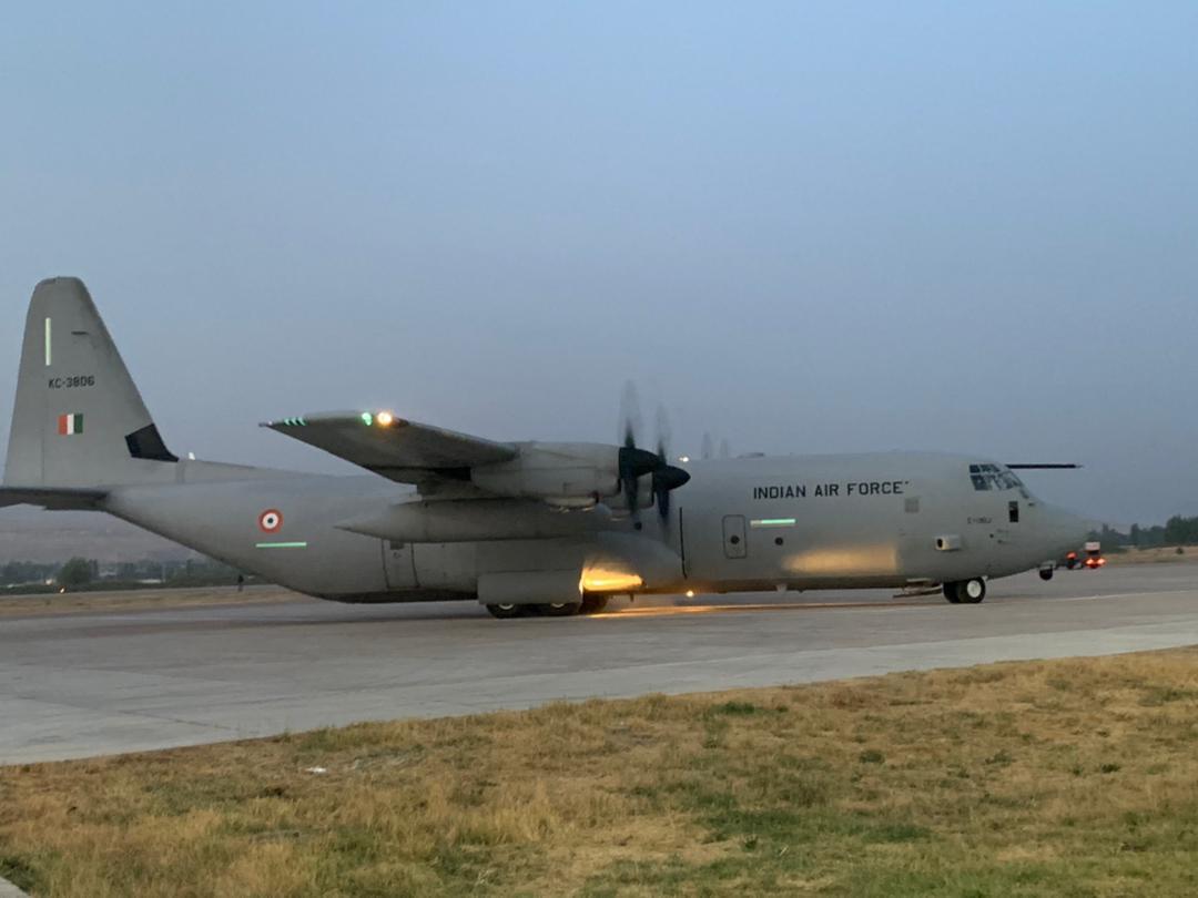 IAF C-130J at Ayin airbase