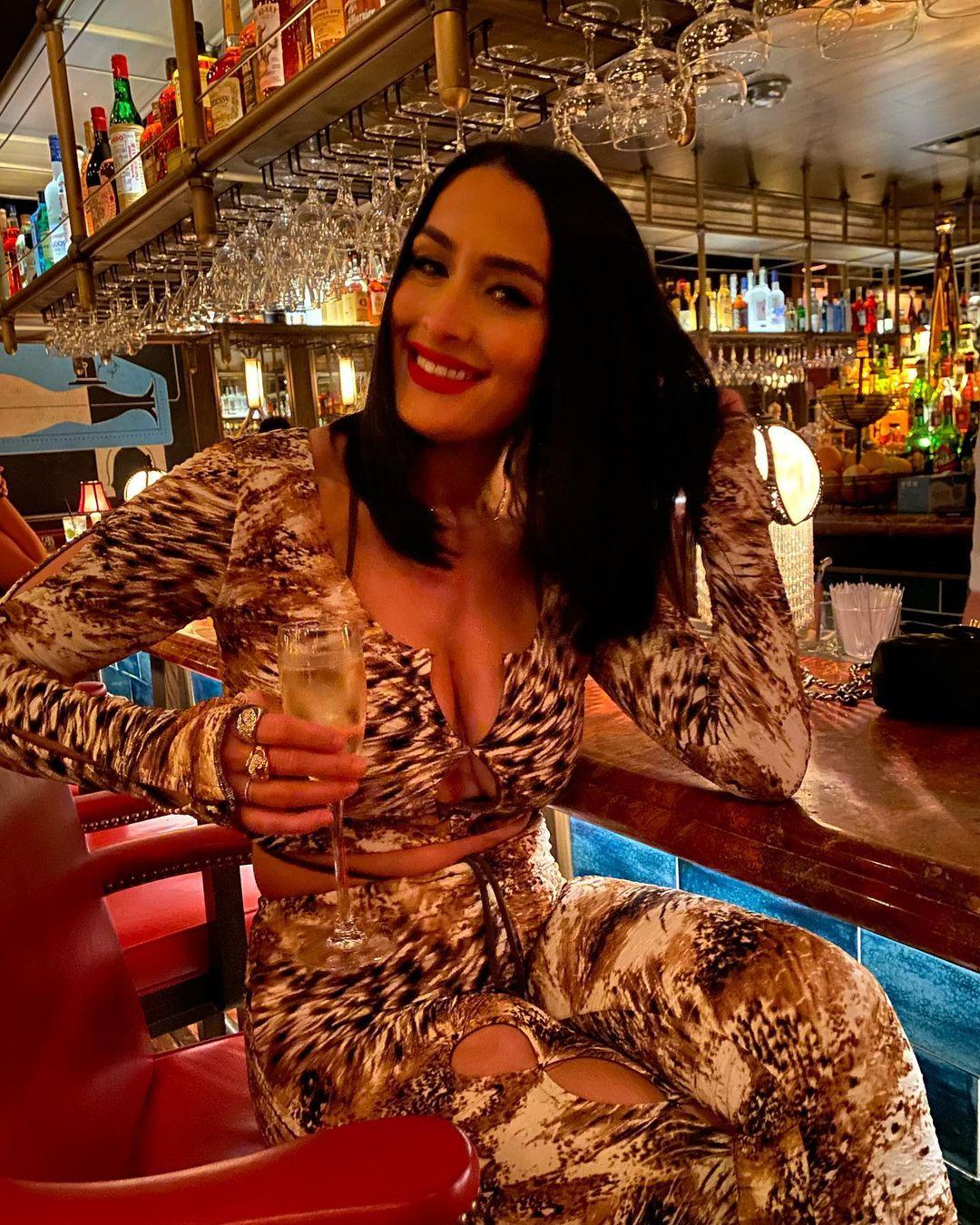 Photos: Nikki Bella Spends Time At Bar After WWE Summerslam 2021 Ban 136