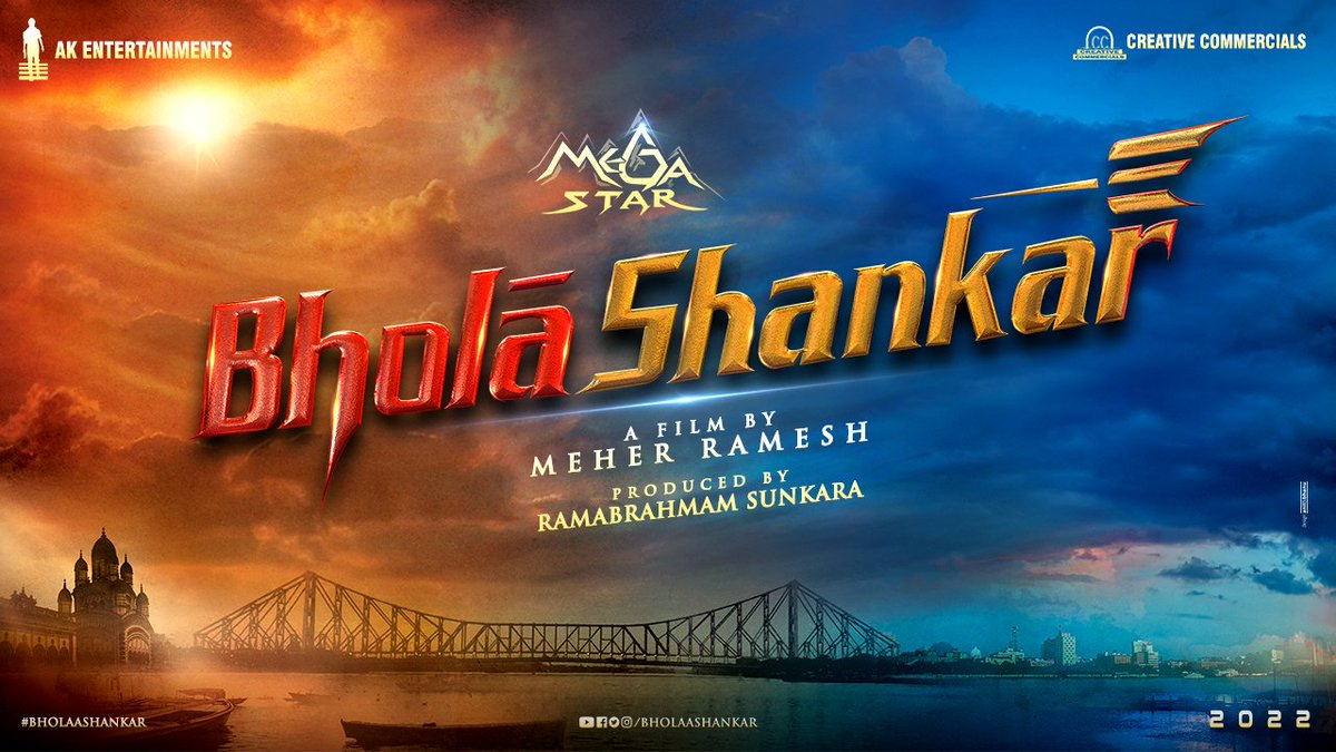 Happy birthday @KChiruTweets garu🤗 Honoured to be unveiling the title of your film! #BholaaShankar, under the directorial skills of my good friend @MeherRamesh and my favourite producer @AnilSunkara1 garu   May the year ahead bring you great health and success. All the best sir! https://t.co/U9czmnIK5I