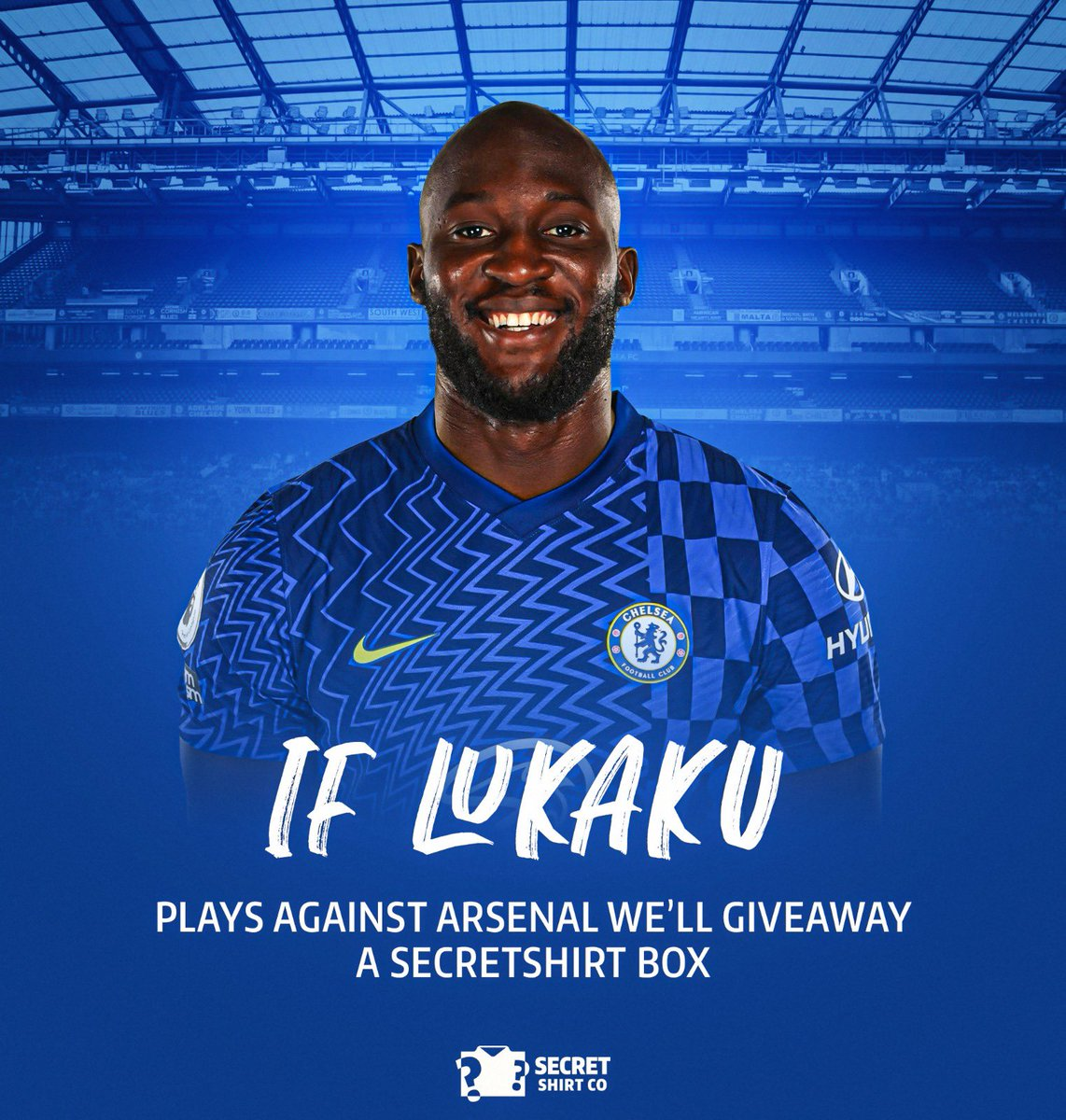 If Lukaku plays against Arsenal today we'll giveaway a SecretShirt.co box 📦 To enter 👇 🔄 Retweet this tweet 🤝 Follow us Good luck!