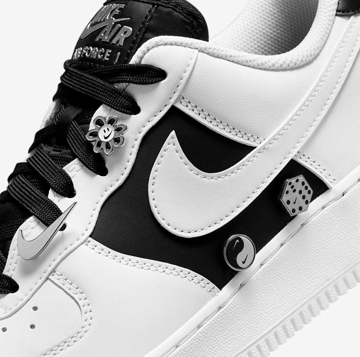 Available via Footlocker Nike Air Force 1 '07 PRM Silver Chain =